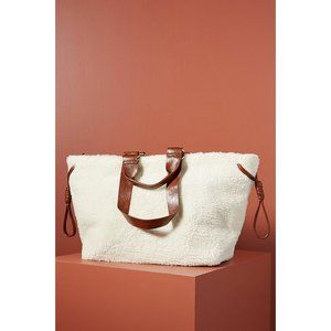 Anthropologie Haley Sherpa Tote Bag